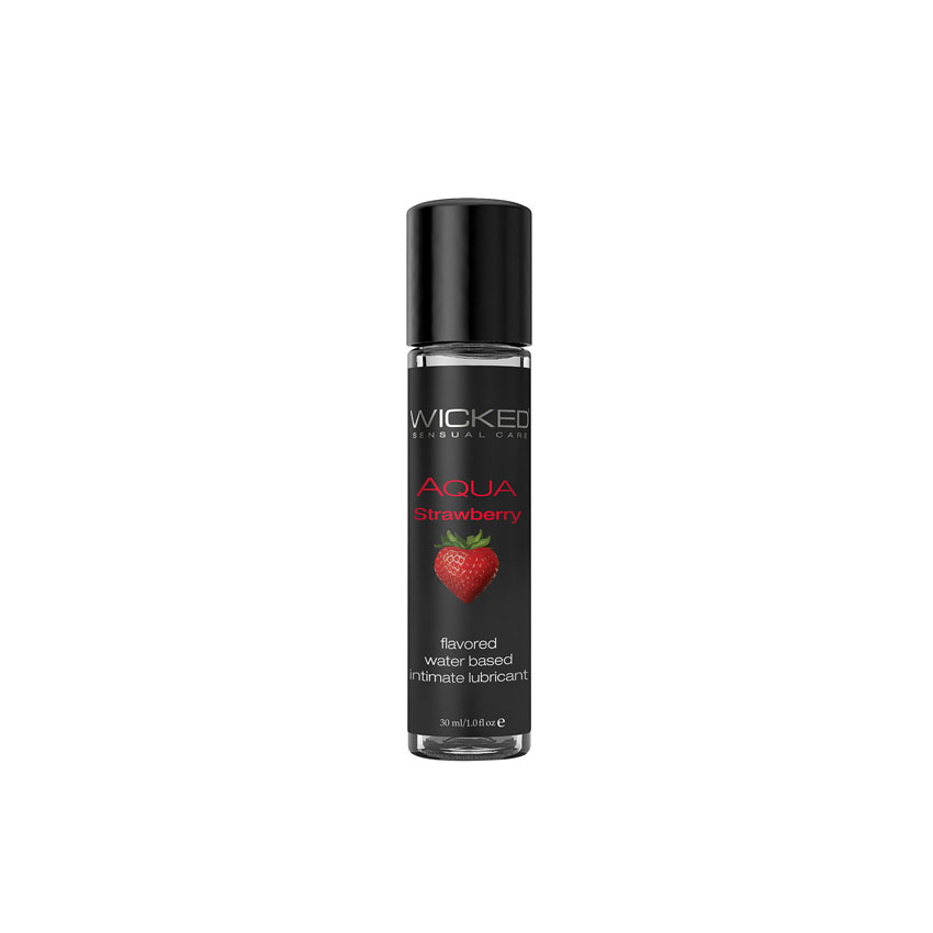 Wicked® AQUA Strawberry Waster Based Lubricant