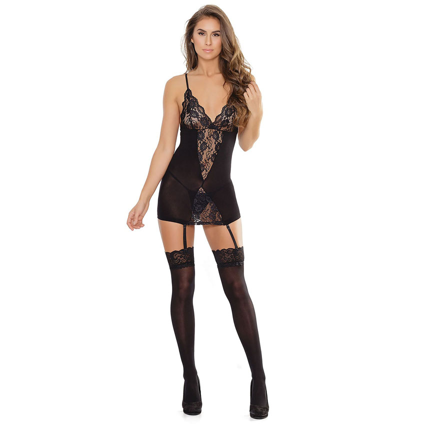 Chemise with garters
