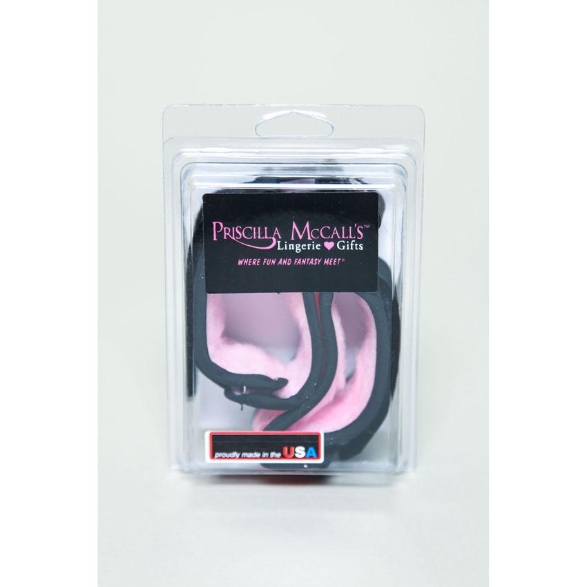 Priscilla Mink Cuffs-Pink