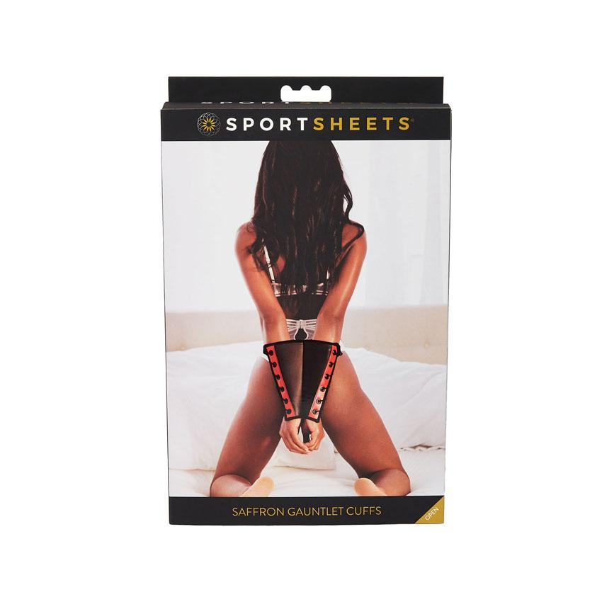 Saffron Gauntlet Cuffs by Sportsheets