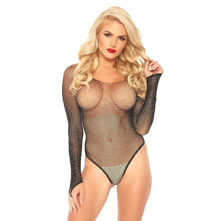 Crystalized Fishnet Bodysuit