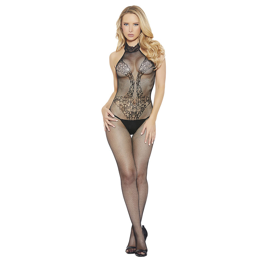 Halter Crotchless Bodystocking