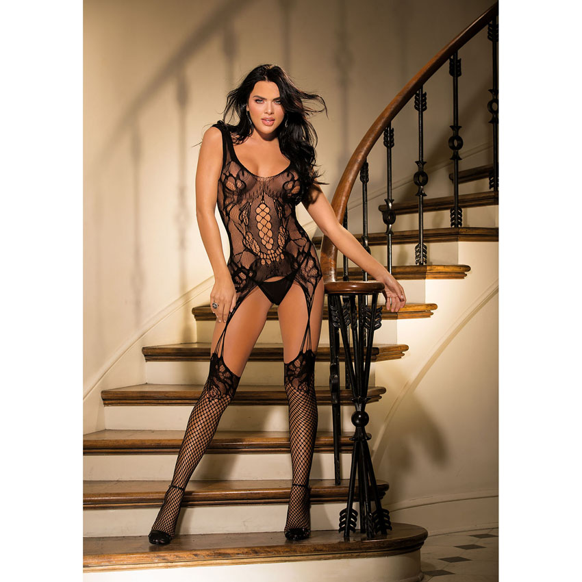 Intricate Fishnet Bodystocking