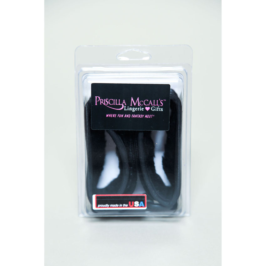 Priscillas Mink Cuffs-Black