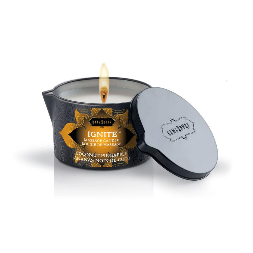 KamaSutra Coconut Pineapple Massage Candle