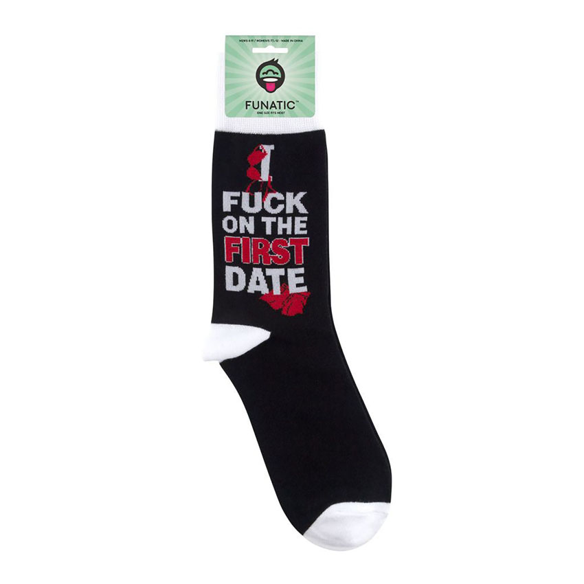 I F*ck On The First Date Socks