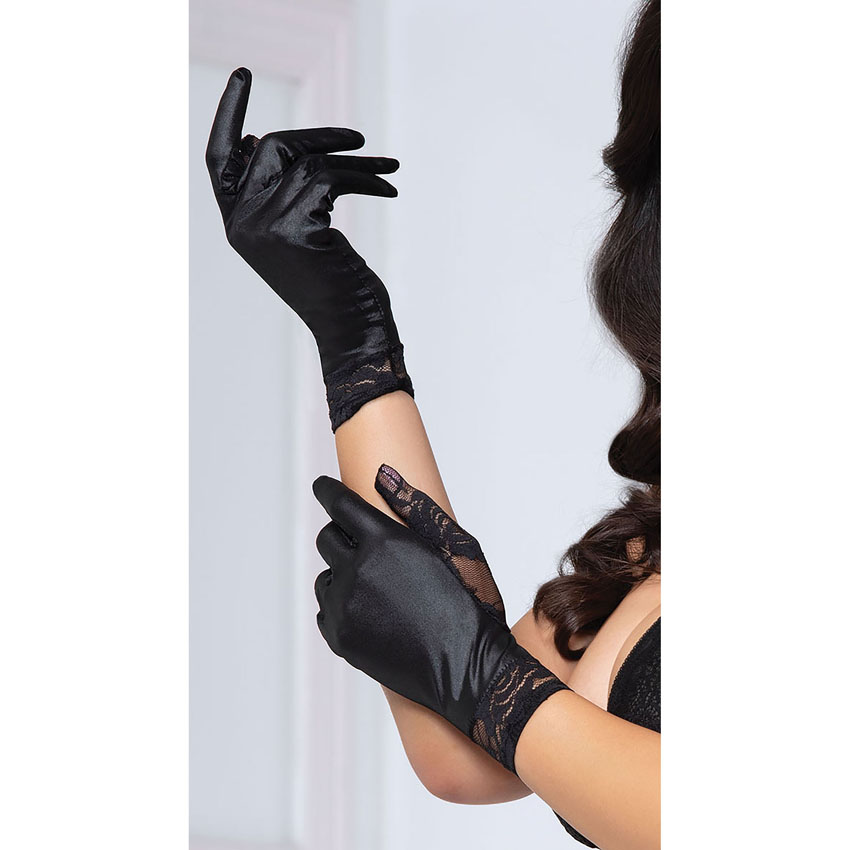 Short Satin Lace Glove