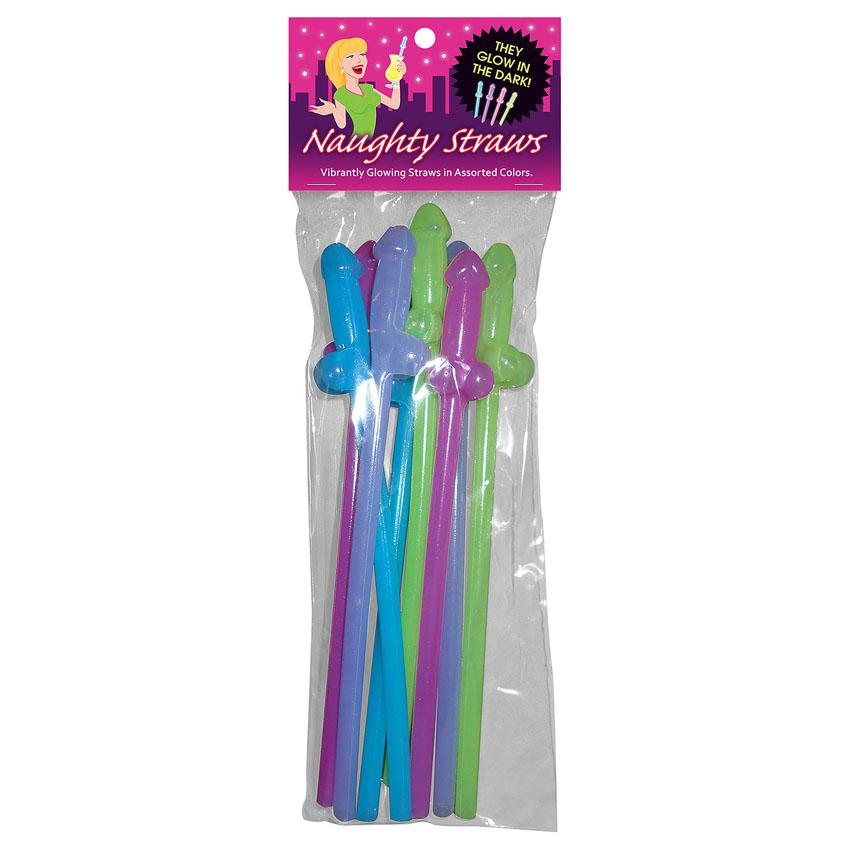 Glow Naughty Straws