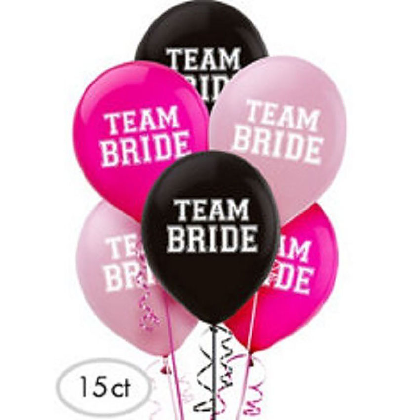 Team Bride Balloons 15ct.