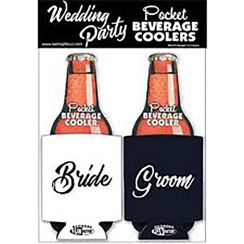 Bride & Groom Koozies